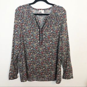 Anthropologie   Meadow Rue Luana Floral Lace Top